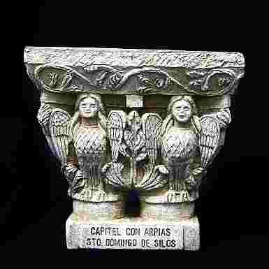 Capitel de las Arpías en el Monasterio de Santo Domingo de Silos (Burgos)
