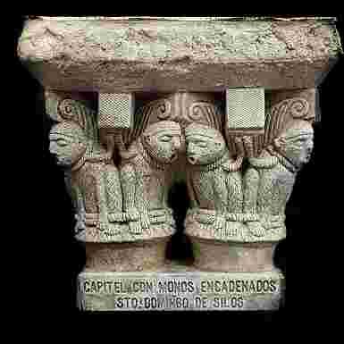Capitel de los Monos Encadenados del Monasterio de Santo Domingo de Silos (Burgos)