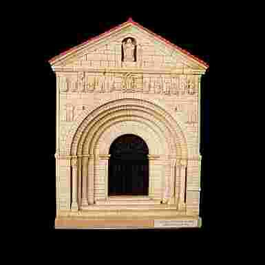 Portada de la Colegiata de Santa Juliana de Santillana del Mar (Cantabria)