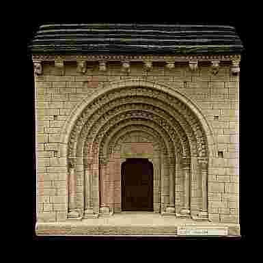 Portada de la Ermita de San Pedro en Echano (Navarra) (Grande)