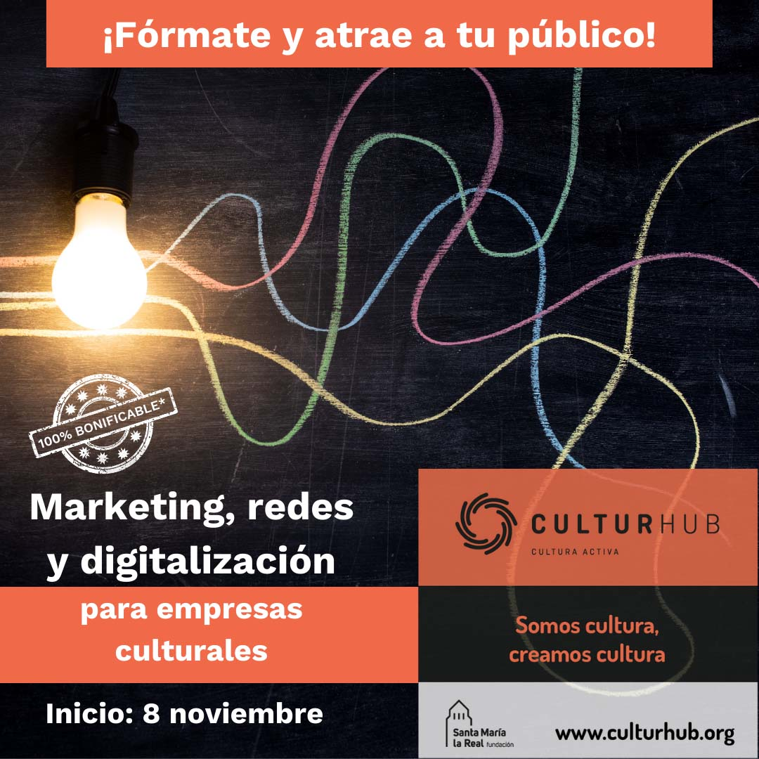 Marketing, redes y digitalización para empresas culturales