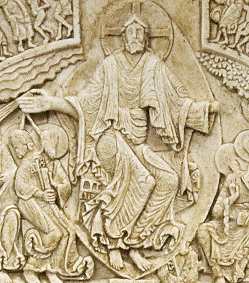 Pórtico de la iglesia de Santa Magdalena de Vezelay (Francia)